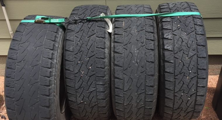 Tires and Rims 275/70 R18 E