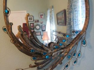 Peacock Bling Dresser Mirror