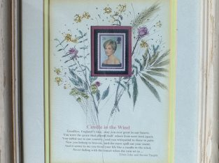 8X10 format Princes Di mint postage stamp mounted